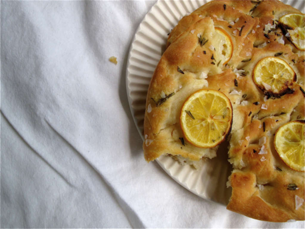 Early Spring Recipe: Lemon and Sea Salt Focaccia