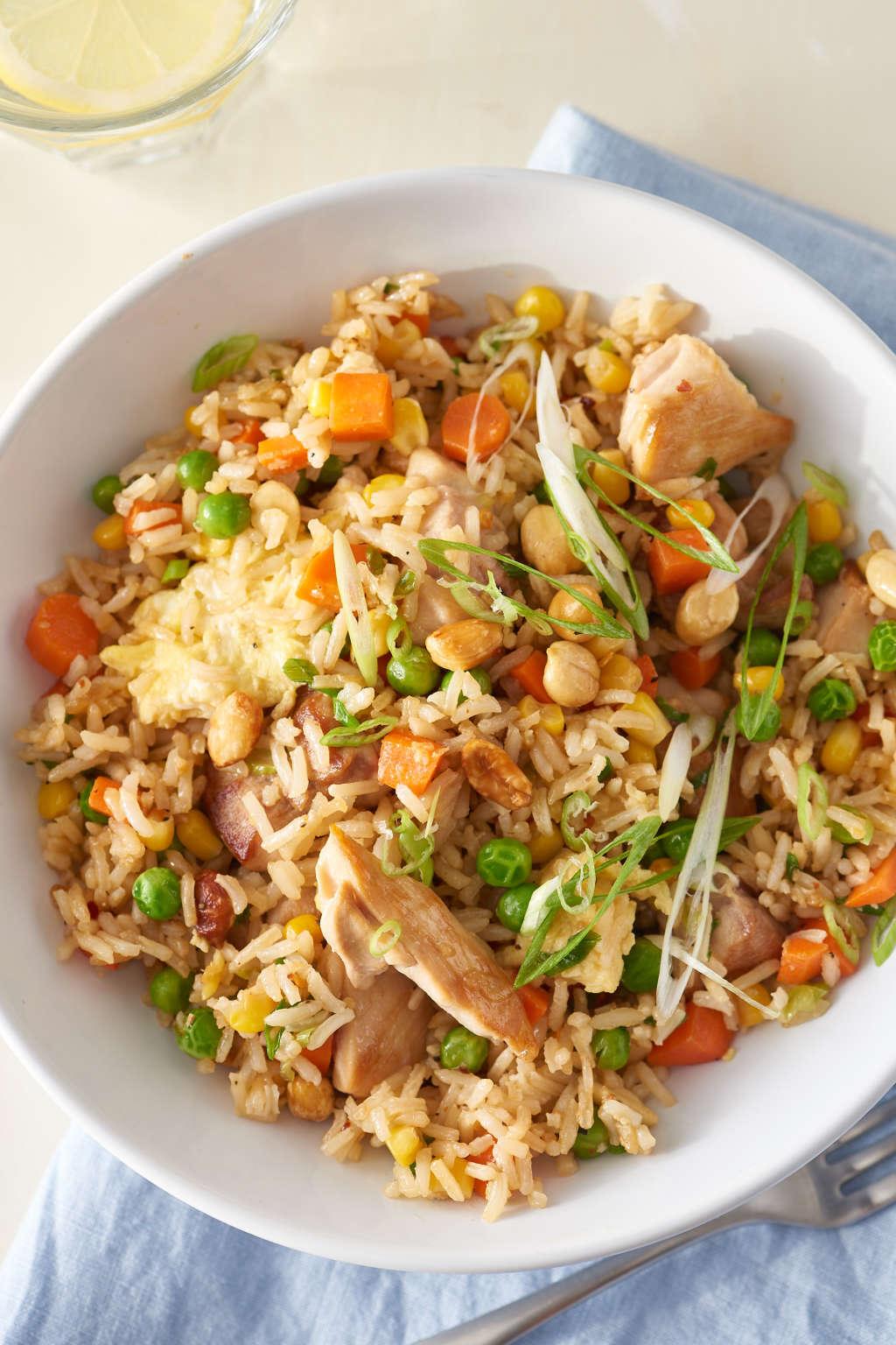 Quick & Tasty Chicken Fried Rice, No Wok Required