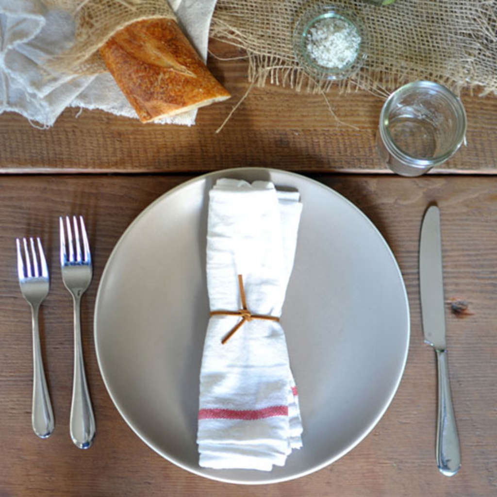 Cheap But Pretty Idea: Use IKEA Dish Towels As Napkins