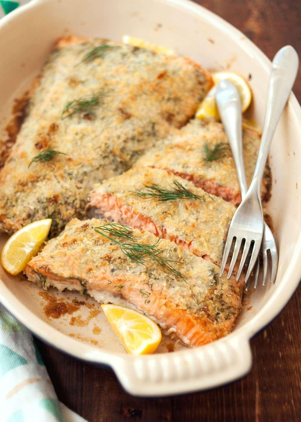 Recipe: Panko-Crusted Salmon with Dill & Lemon