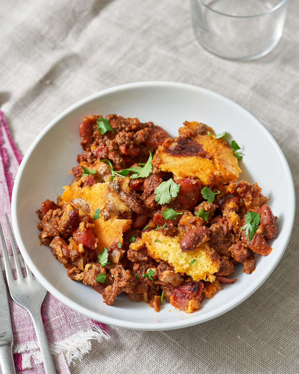 Weeknight Chili and Cornbread, Baked in One Pot at Last
