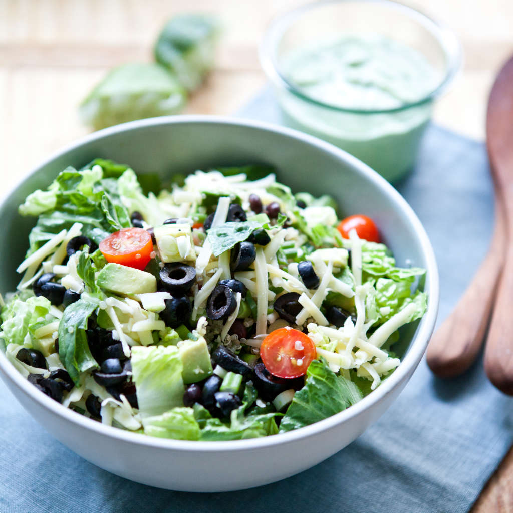 Recipe for Two: Taco Salad with Creamy Cilantro Dressing