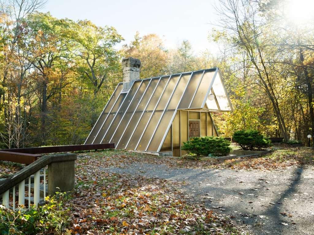 You Enter This Architect's Modernist Glass & Concrete Home Through a Skylight