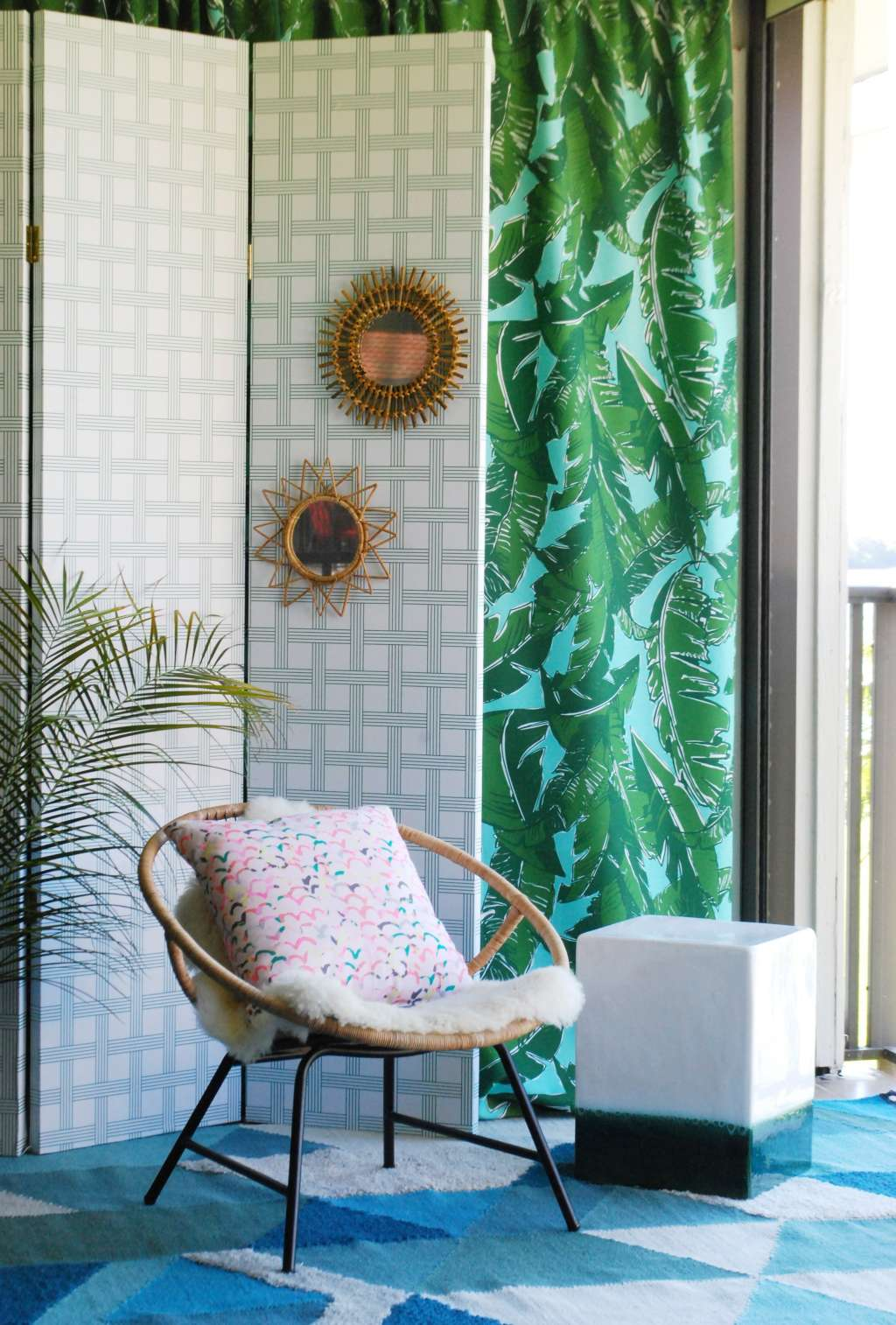 Easy Folding Screen Room Divider Project Tutorial Apartment Therapy Circuit Board Fabric Twoboos Spoonflower