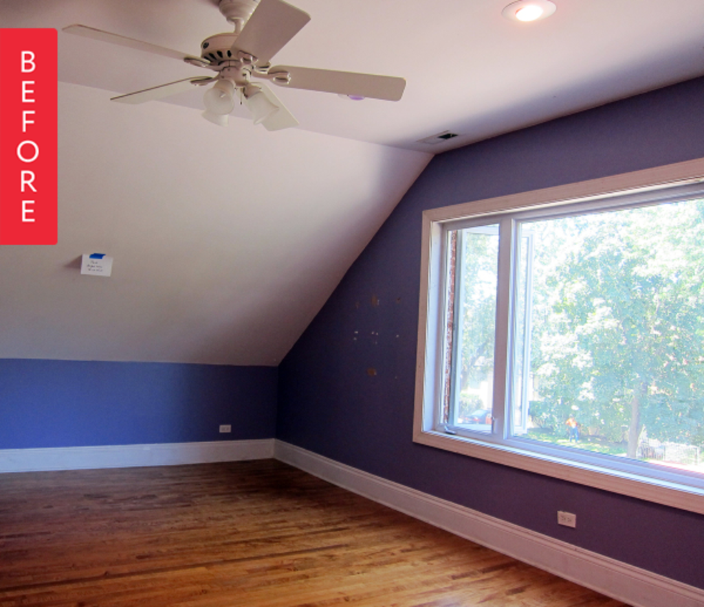 Before & After: A Master Bedroom Goes from Blazingly Bold to Calm and Serene