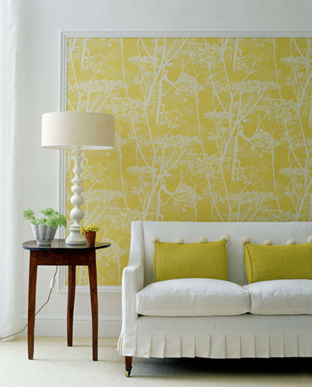 Moulding-Framed Wallpaper   Apartment Therapy