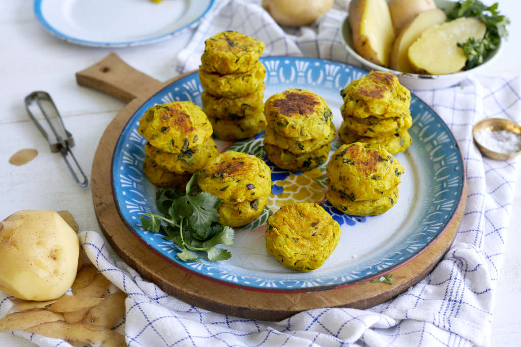 Aloo Tikki (Potato Croquettes) for a South Indian New Year's