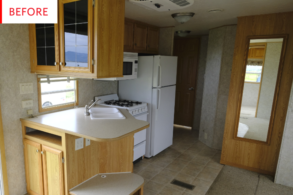 This Stylish RV Kitchen is Now Impressively Spacious