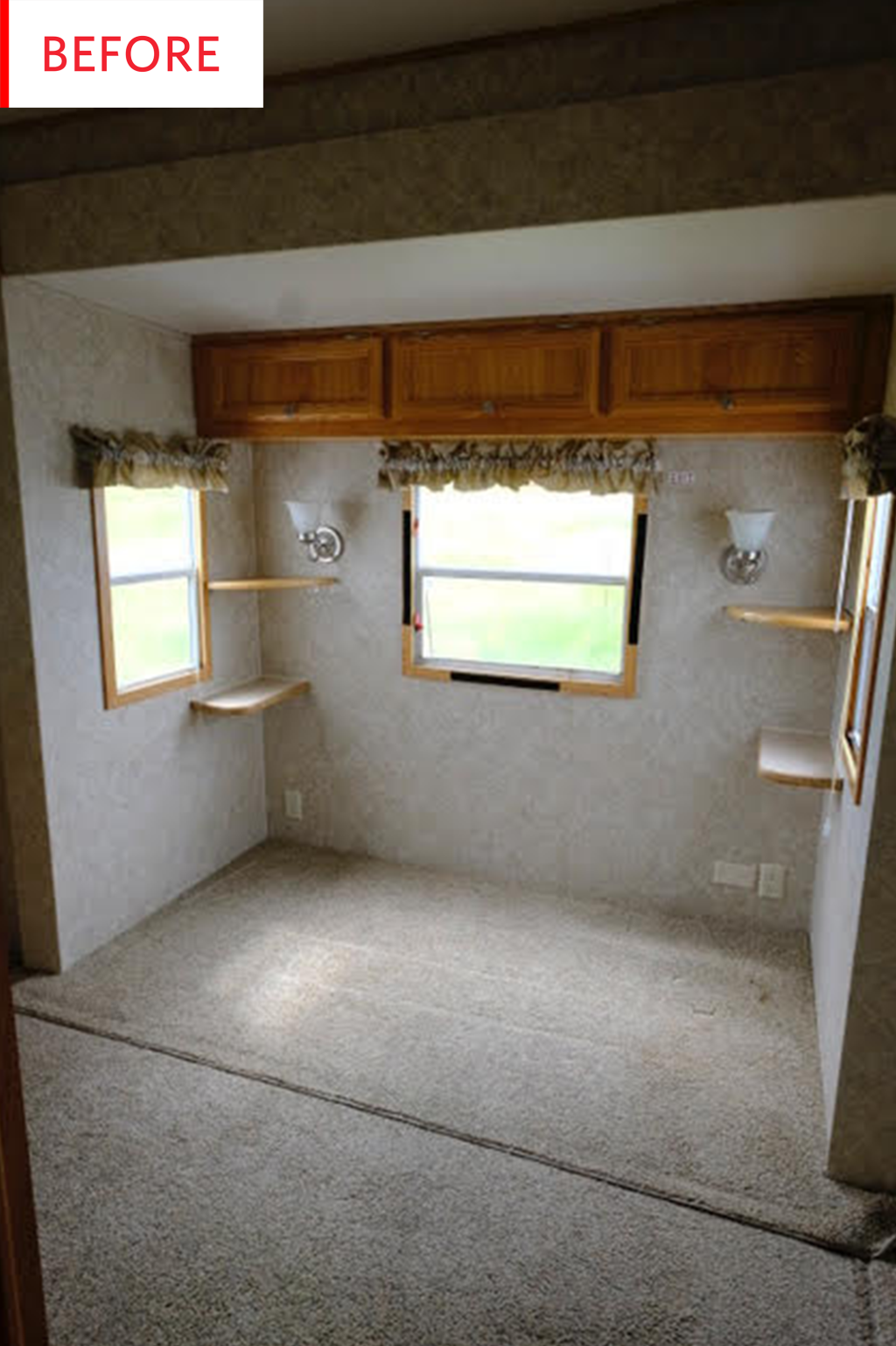 Before and After: This RV's Cozy Bedroom Packs Some Enviable Secret Storage
