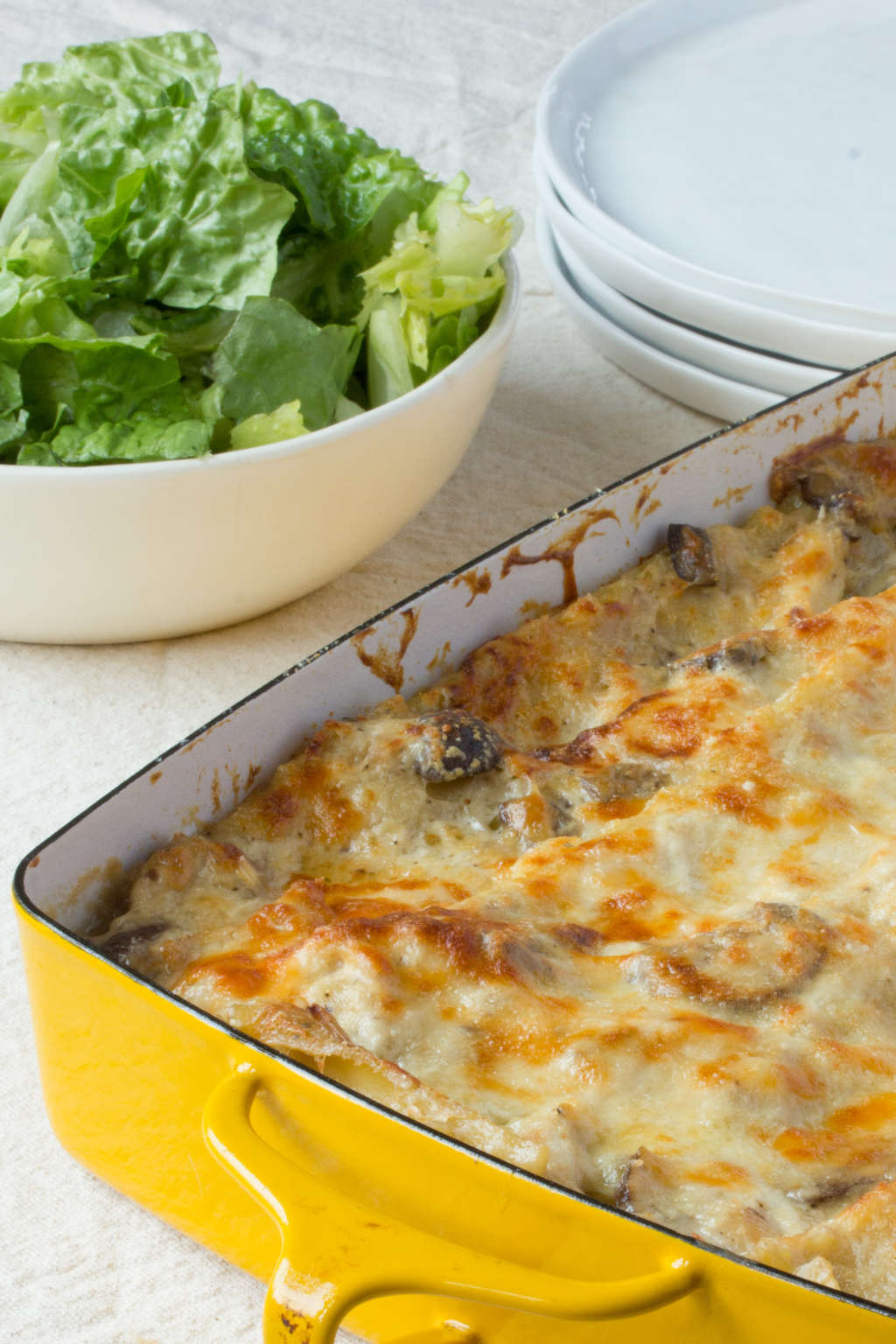 Cold Weather Recipe: Cheesy Chicken and Mushroom Lasagna