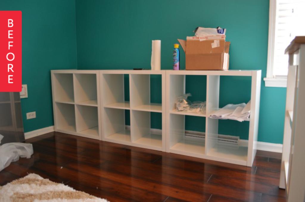Ikea Kallax Credenza : Before after ikea kallax to modular credenza apartment therapy