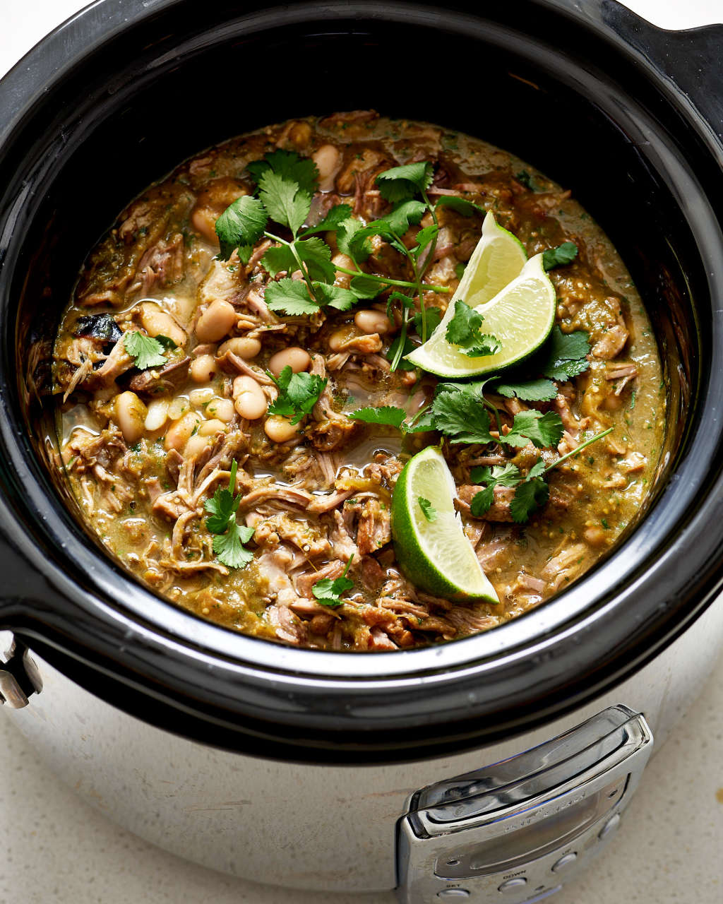 Snow Storm Headed Your Way? Slow Cooker Chili Verde Can Help