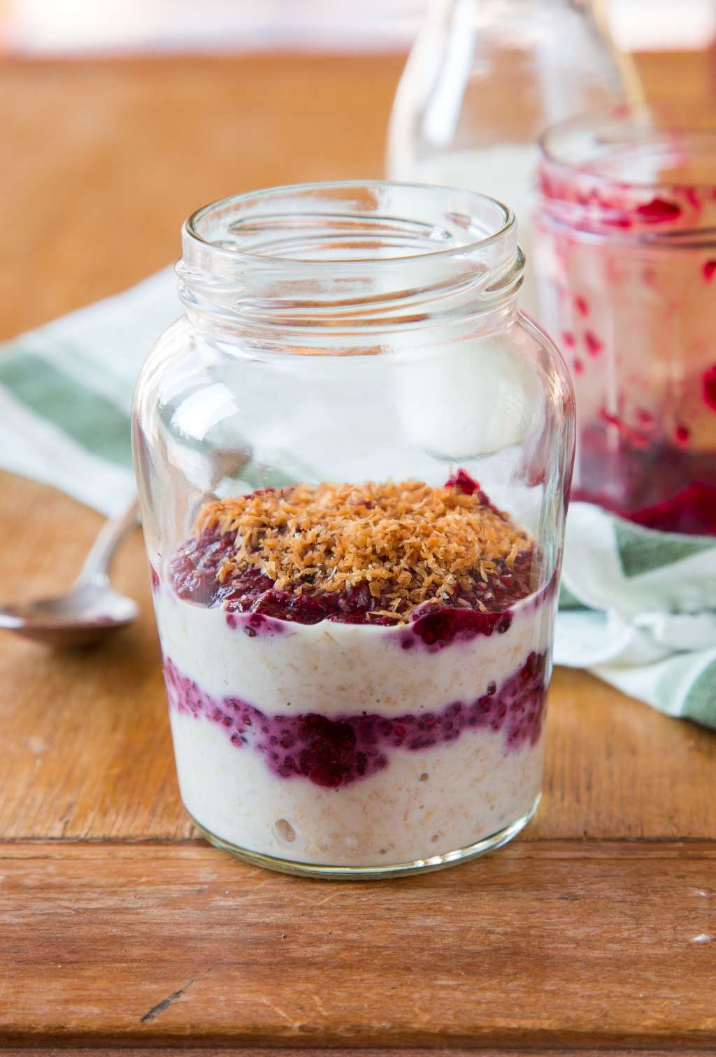 Recipe: Overnight Oats with Jam & Toasted Coconut