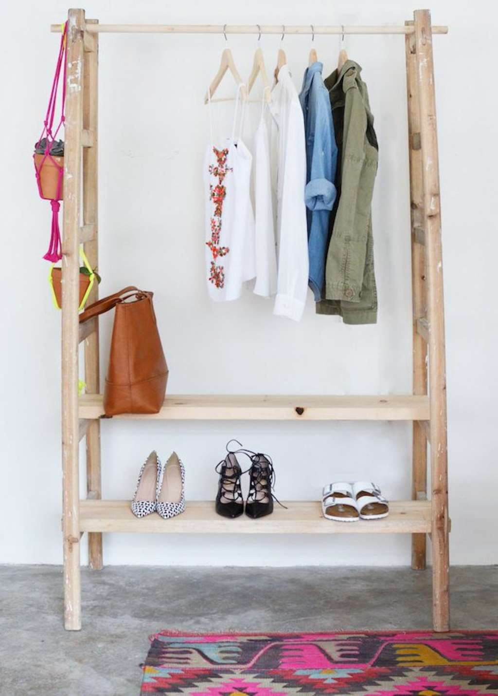 How To Make a Ladder Wardrobe