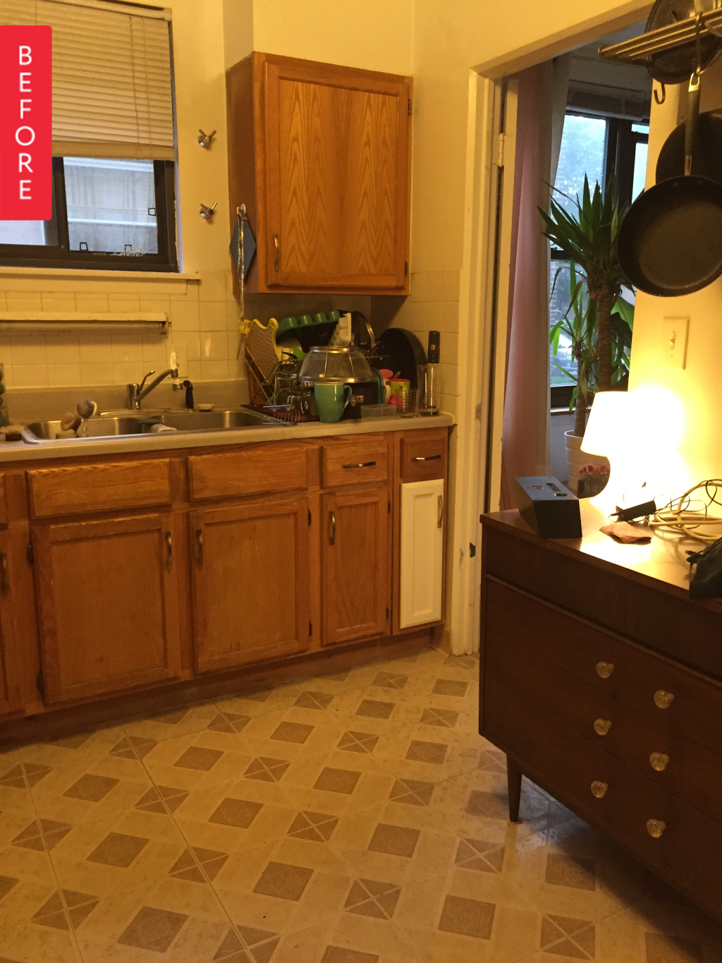 Before & After: An Unbelievably Chic Rental Kitchen Makeover