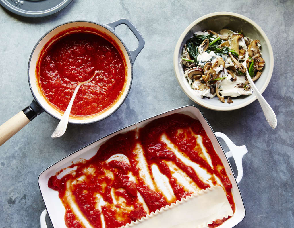 This Veggie-Packed Lasagna Takes One Hour to Make
