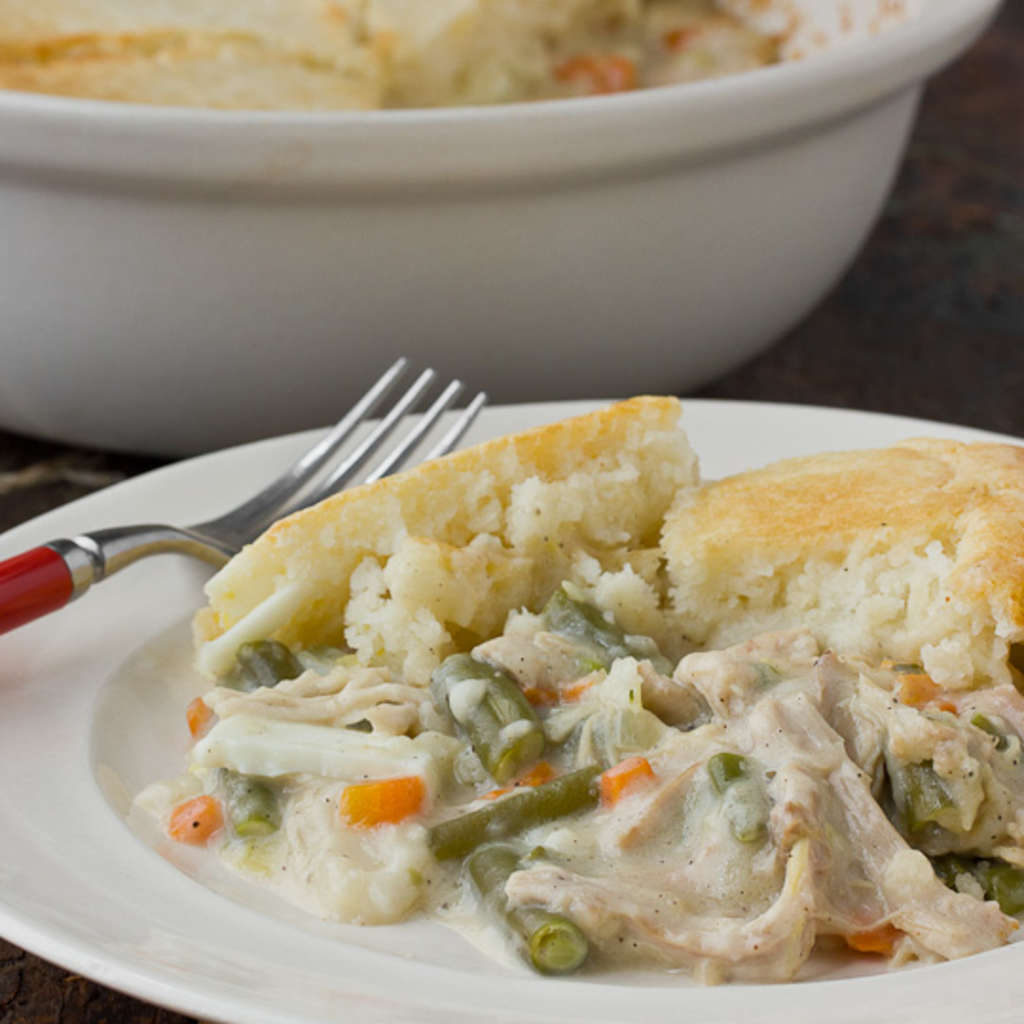 Comfort Food Recipe: Chicken Pot Pie with Biscuit Topping