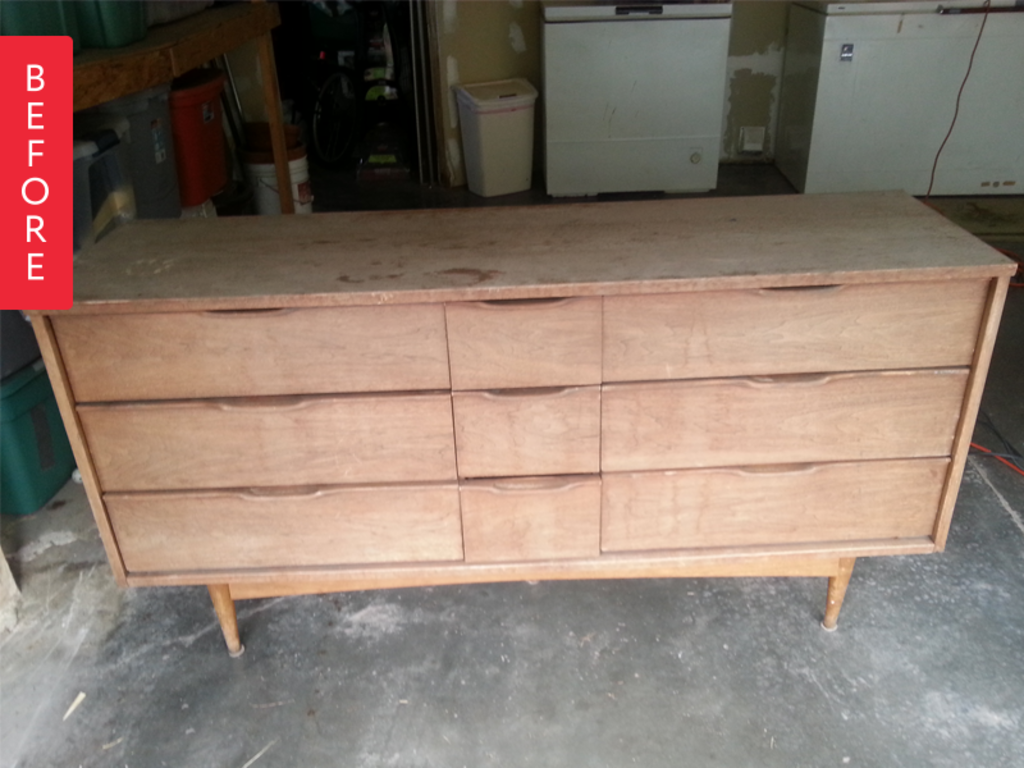 Before & After: Weather Worn Dresser Gets Rescued