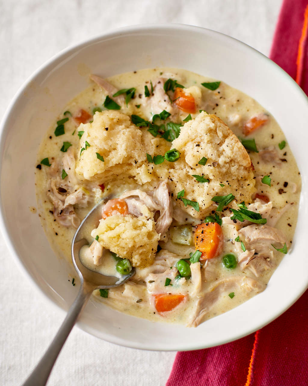 Slow Cooker Chicken & Dumplings Is One Big Pot of Comfort
