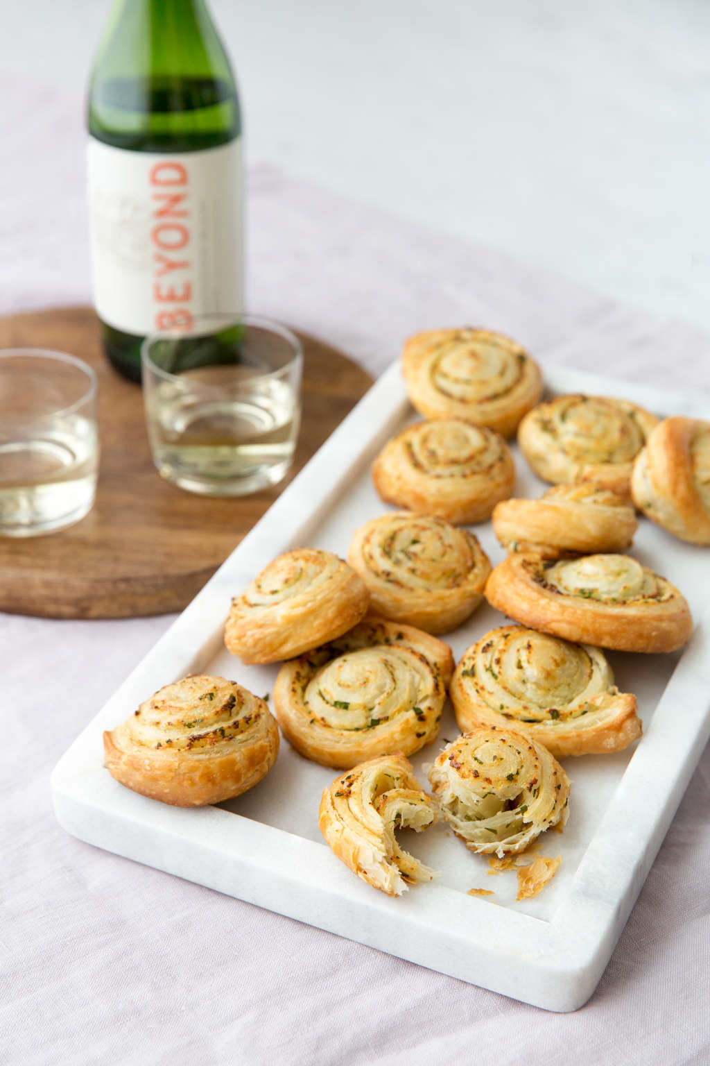 Easy, Flaky Garlic Bread (Plus the $15 Wine to Sip with It)
