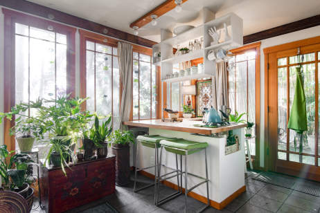 tour a small plant filled basement rental apartment apartment therapy - Basement Apartment Design