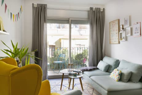 Pastel Interieur Barcelona : House tour a square foot pastel spanish apartment apartment