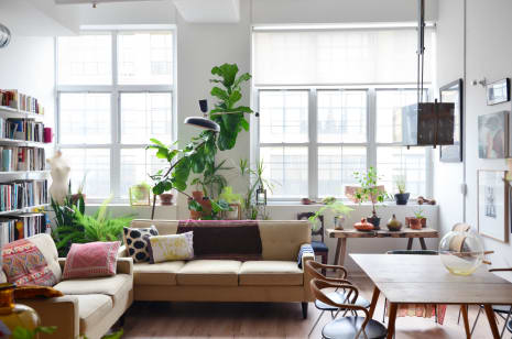 New york home tour a raw eclectic brooklyn loft apartment