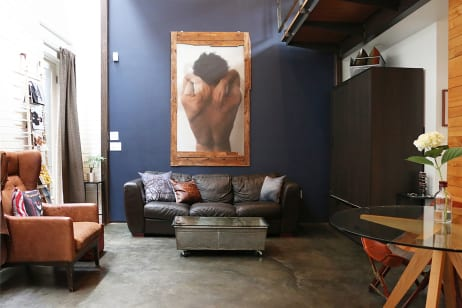 House Tour An Artistic Couple S Multipurpose D C Loft Apartment