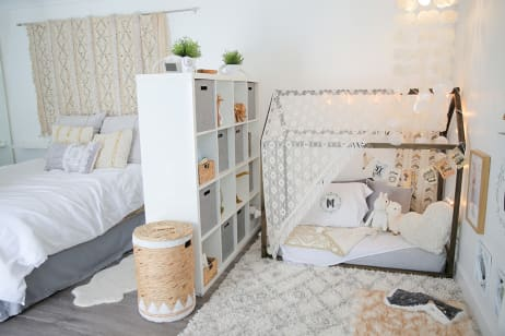 Baby Makes Three A Shared Master Bedroom Amp Nursery With Global