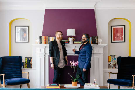 Colorful modern furniture Small Space Tour