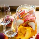 Sparkling White Peach Sangria