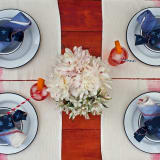 Dip dyed placemats and napkins