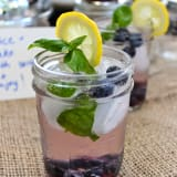 Pre-Made Drinks in Jars: Spiked Blueberry Basil Lemonade