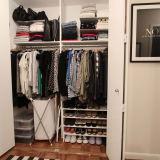 organized clothing closet shoes storage