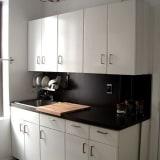 Black painted countertops