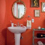 Glam Gold & Coral Bathroom