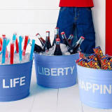 Life Liberty & Happiness drink tubs