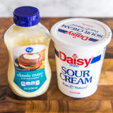 Mayonnaise and sour cream