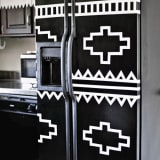 DIY Kilim Patterned Fridge
