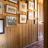 Wood-panel gallery wall