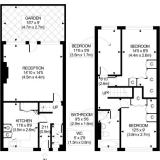 Floorplan for Paul and Katie's eclectic modern flat
