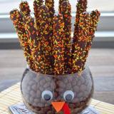 Pretzel rod turkey