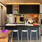 Black kitchen cabinets