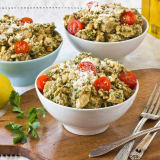 Recipe: Creamy Chicken Salad with Parsley Walnut Pesto & Sun-Dried Tomatoes