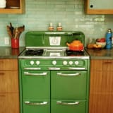Grass green retro oven