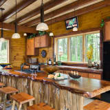All wooden kitchen