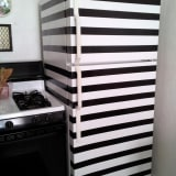 Black & White Striped Fridge