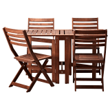 Wooden ikea folding patio set