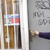 Front door graffiti