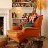 orange-chair-fireplace